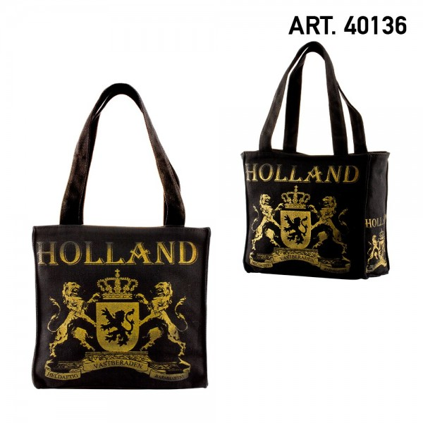 Amsterdam Canvas Small Holland Black Gold