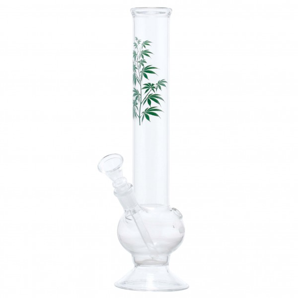 Multi Leaf Glass Bong- H:30cm - Ø:40mm - Socket 14.5mm