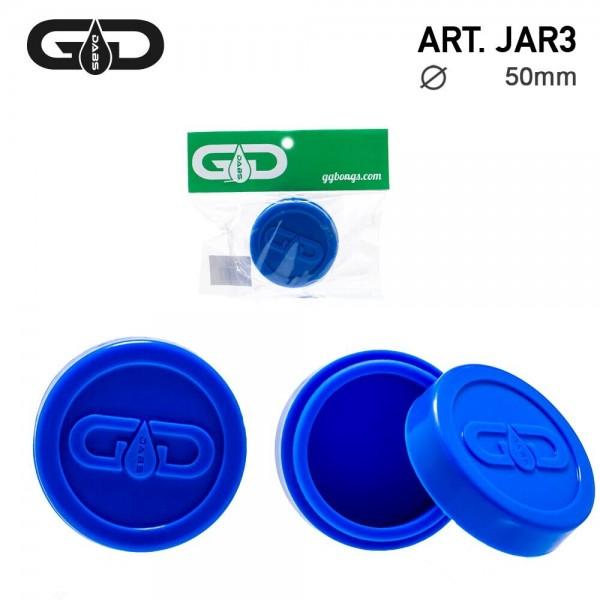 Grace Glass | Dabs Silicon Jar- Blue- Ø:55mm
