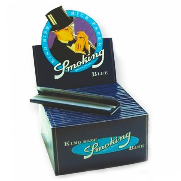 Smoking | BLUE King Size 33 leaves per book 50 books per box