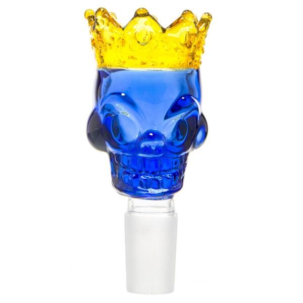 Grace Glass   Skull King Bowl- Blue- SG:18.8mm