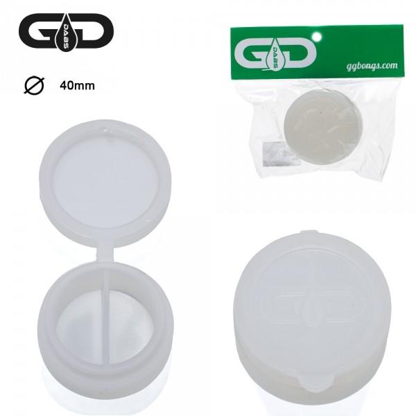 Grace Glass | Dabs Silicon Jar- White- Ø:40mm