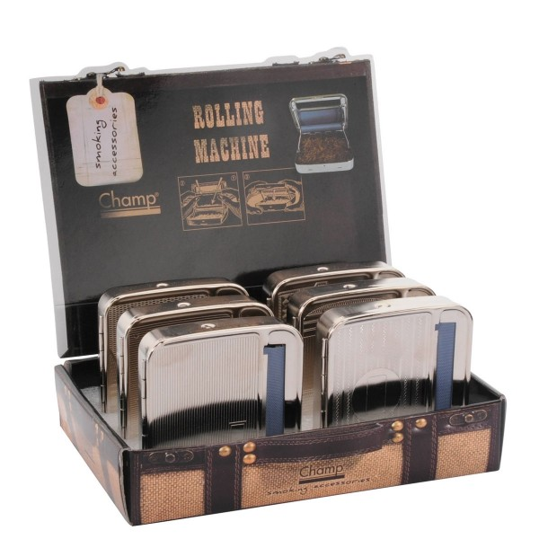 Champ | Metal Cigarette Rolling Machine 70mm 12pcs in a display