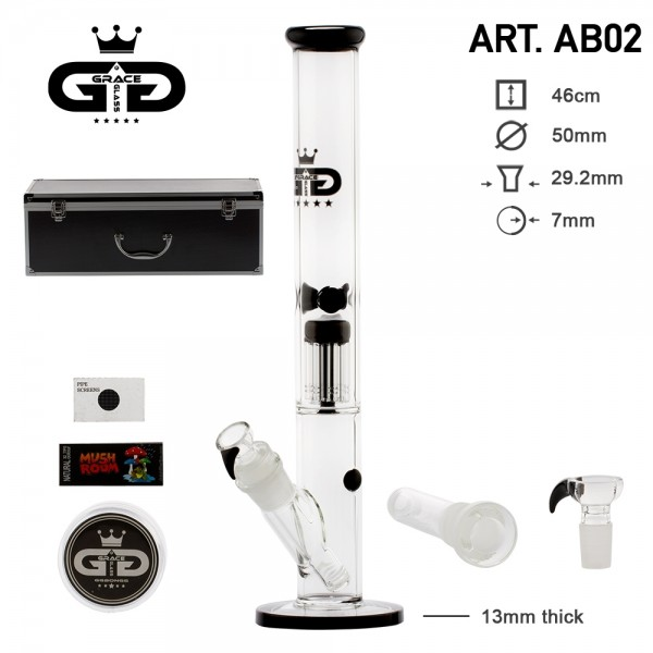 Grace Glass   Straight Black in Box H:46cm - Ø:50mm Luxury Metalic Box - SG:29.2mm