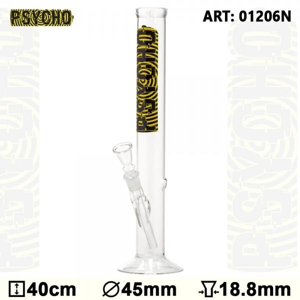 Bong Glass Psycho-H:40cm-Ø: 45mm - SG:18.8mm