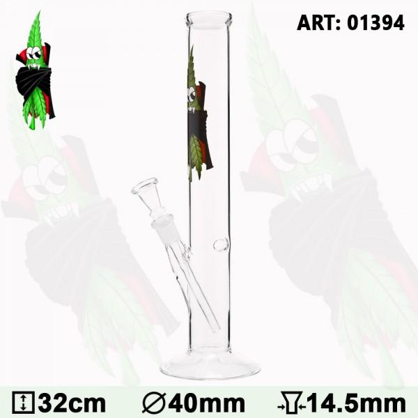 CannaHeroes Glass Bong Cannaculla - H:32cm- Ø:40mm-SG:14.5mm
