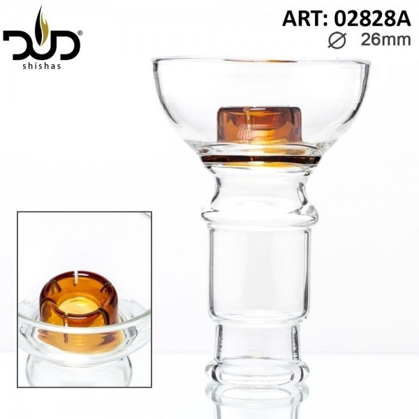 DUD Shisha | Replacement DUD Hookah Glass Bowl- Amber (female) Ø:26mm