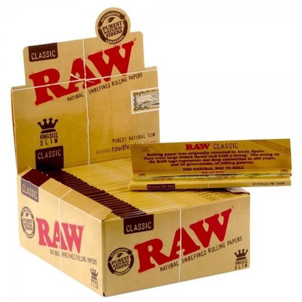 Raw papers King Size standard x50 booklet