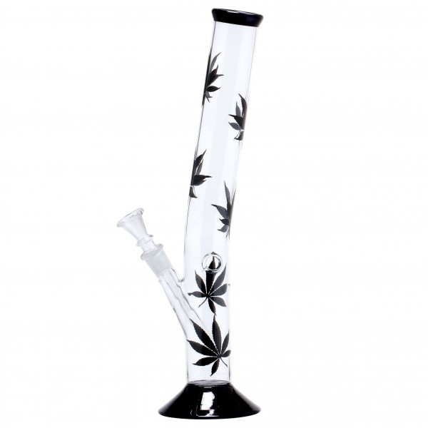 Leaf | Multi Leaf Hangover Glass Bong - H:35cm - Ø:40mm - Socket:14.5mm