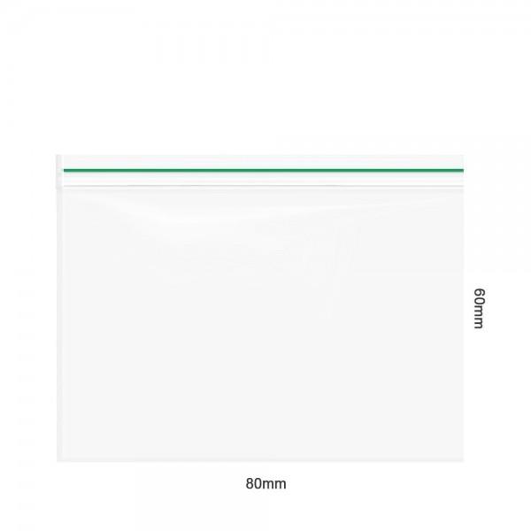 Amsterdam | Zipper Bags 80mm x 60mm 50µ (MU) Green 1000pcs in a display