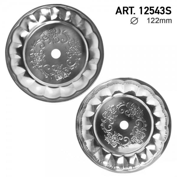 DUD Shisha | Ashplate- Silver -22cm
