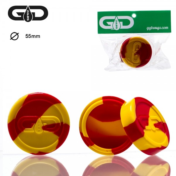 Grace Glass | Dabs Silicon Jar- Red Yellow- Ø:55mm