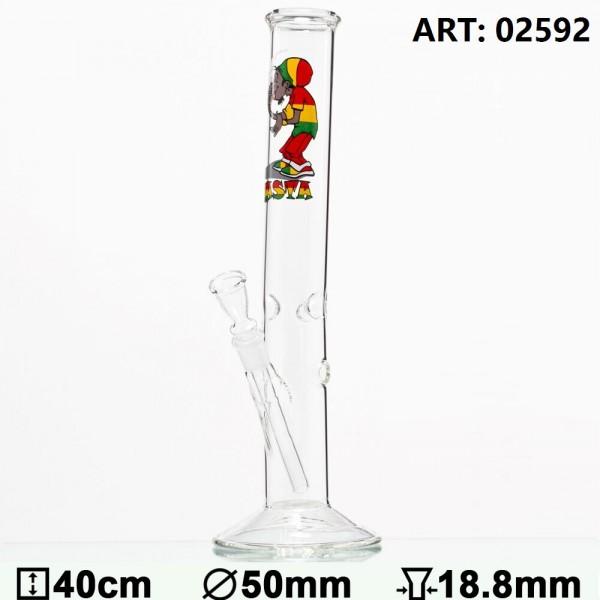 Rasta Smoker Dude Hangover Glass Bong- Ø:50mm- H:40cm- Socket:18.8mm