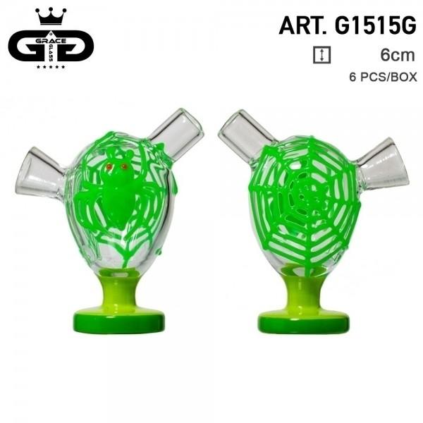 Grace Glass | Little Storm Green | 6 pcs in display Glow in the Dark