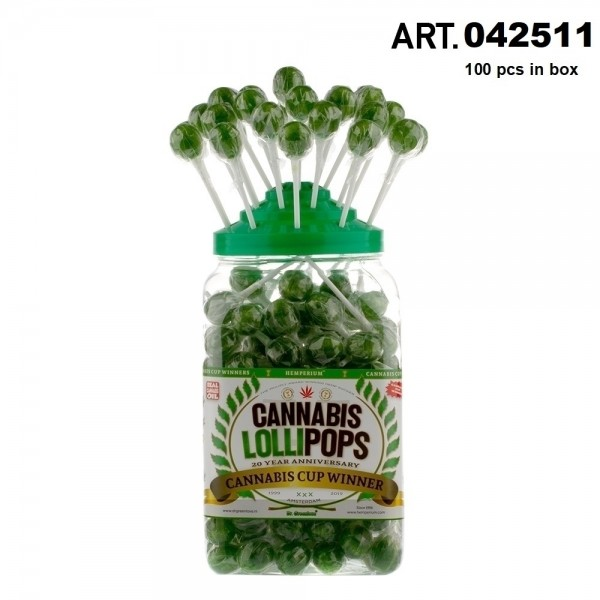 Cannabis Lollipops 100pcs / display THC Free 18g /Lolly