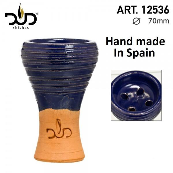 DUD Shisha | Clay bowl-handmade in Spain-blue