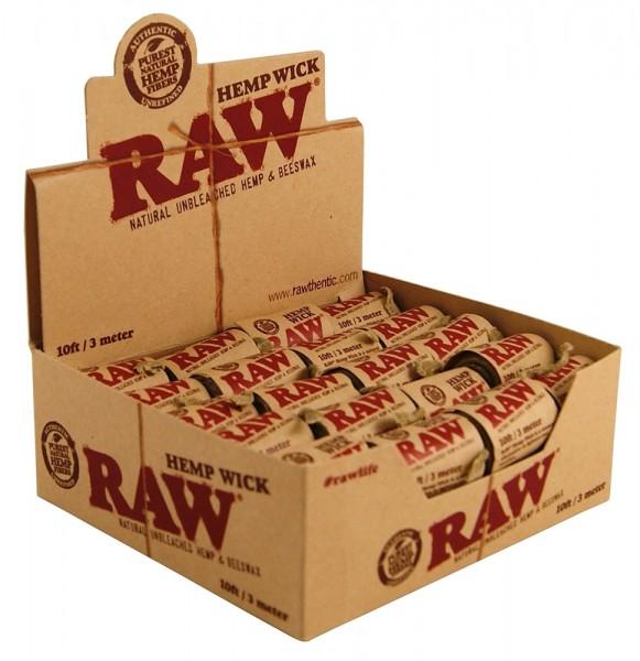 RAW | Hemp Wick 300cm long 40 in display