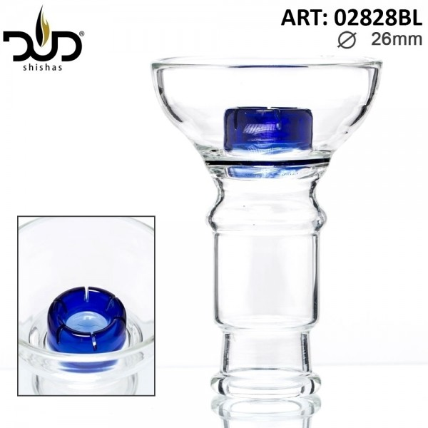 DUD Shisha | Replacement DUD Hookah Glass Bowl- Blue (Female) Ø:26mm