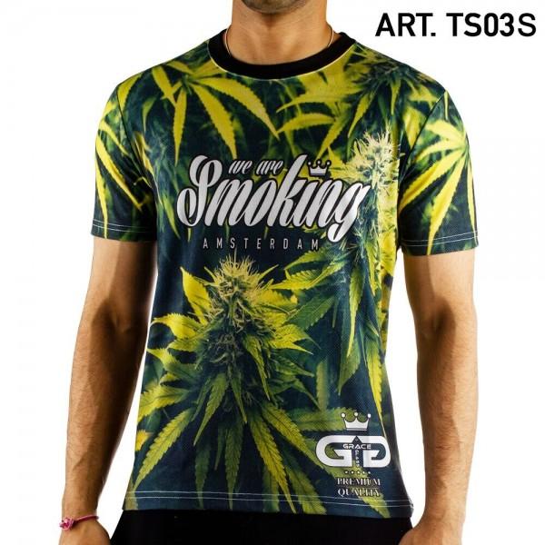 Grace Glass | Leaf T-Shirt SIZE-S