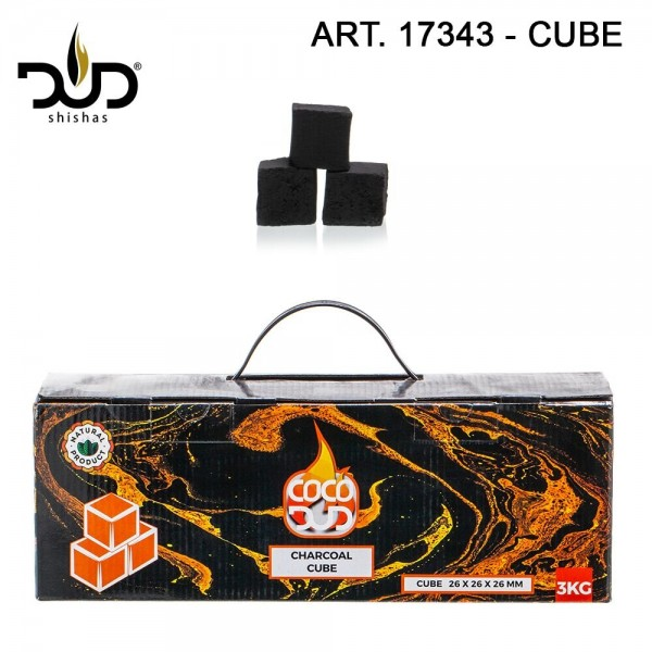 CoCo DUD Cube Shape-charcoal- 192pcs/box 3 kg