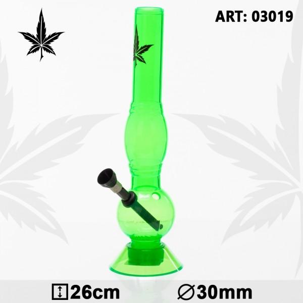 Acrylic Bouncer Bong - Green- H:26cm- Ø:30mm
