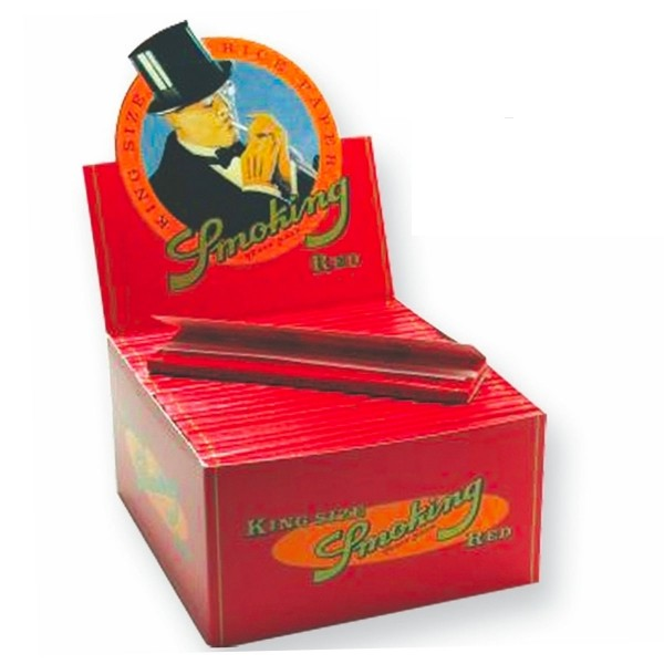 Smoking | RED King Size 33 leaves per book 50 books per box