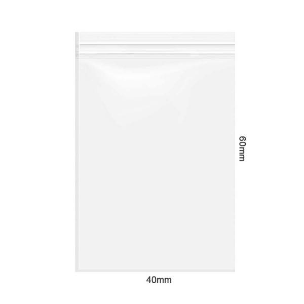 Amsterdam | Zipper Bags 40mm x 60mm 40µ (MU) Clear 1000pcs in a display