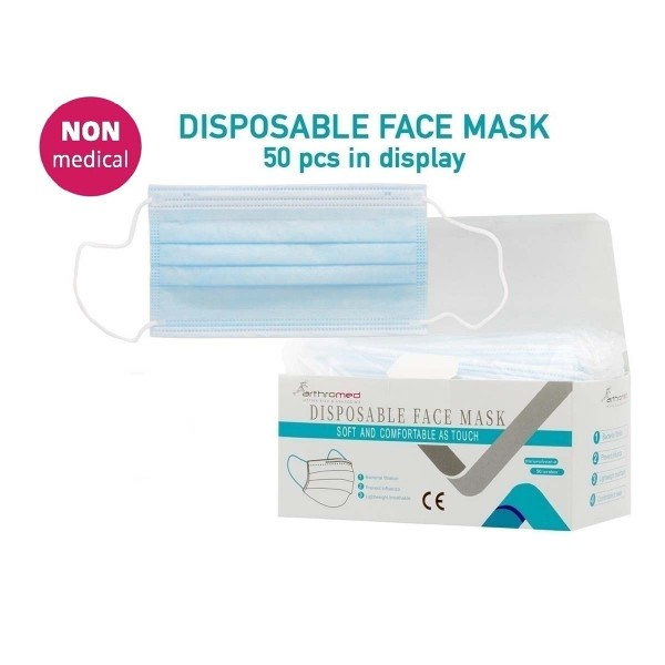 Disposable Non Medical Masks - 50 pcs in a display - 3-Ply Protective Anti Dust Breathable Medical B