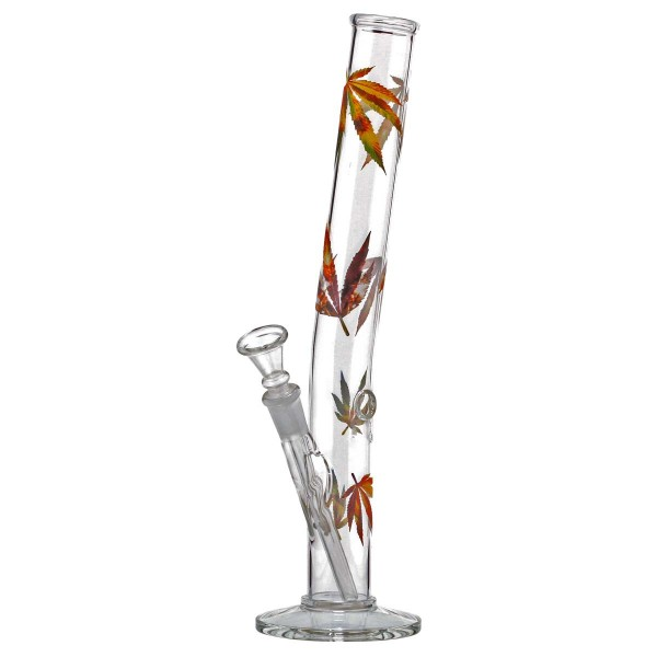 Hangover Multi Leaf Glass Bong- H:32cm - Ø:34mm- Socket:14.5mm