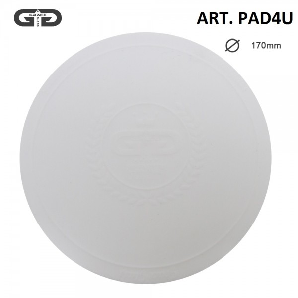 Grace Glass   Small silicon Pad - Underlay for Bongs- WHITE- Ø:170mm-single piece