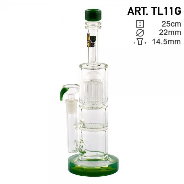 Thug Life | Multi Percolator Green - H:28cm - Ø:22mm - SG:14.5mm