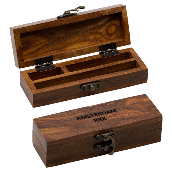 Amsterdam   Wooden Box H:4cm L:15cm W:5,25cm