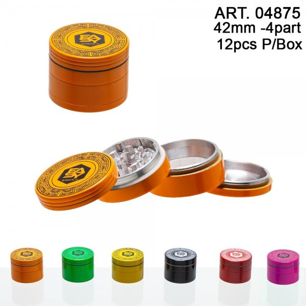 Easy | Grinder - multicolor - 42mm - 4 part 12 pcs in box