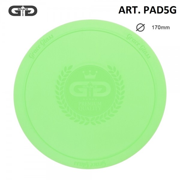 Grace Glass | Small silicon Pad - Underlay for Bongs- GREEN- Ø:170mm- single piece