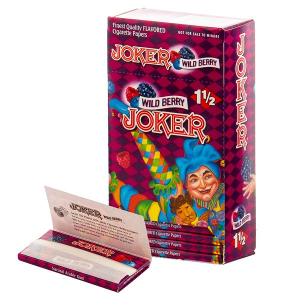 Joker   Wild Berry Flavour Papers 1 1/2 Wild Berry 32 pcs in one package and 24 pcs in a Booklet/Dis
