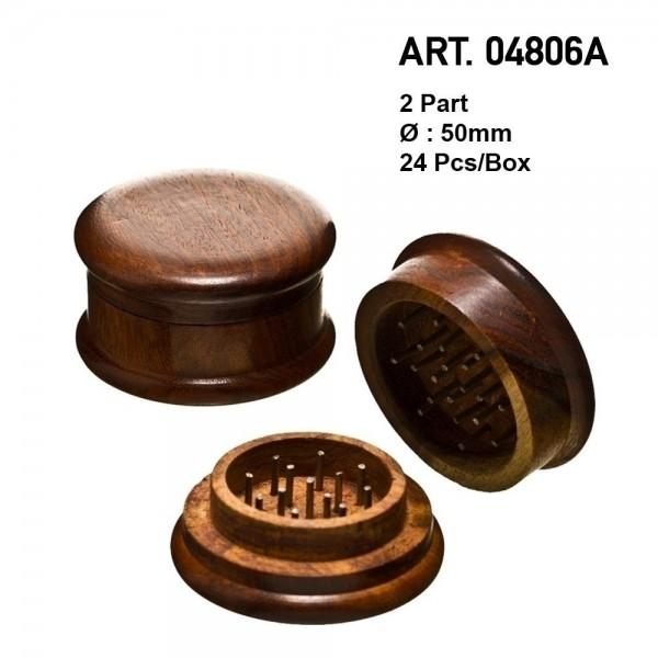Amsterdam   Wooden grinder- 2part - Ø:50mm - 24pcs/box