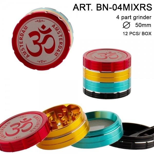 Grace Glass Amsterdam   Grinder - 4part - Ø:50mm - 12pcs/box