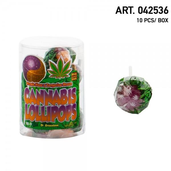Cannabis   Lollipops Purple Haze with Tangerine Dream 10 pcs in a box