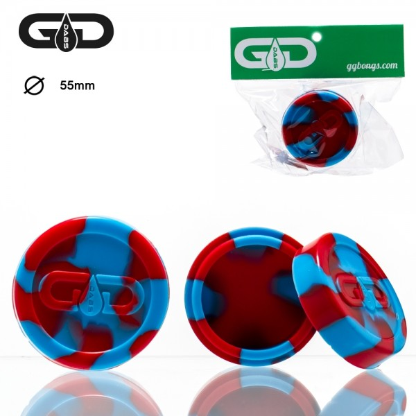 Grace Glass | Dabs Silicon Jar- Red Blue- Ø:55mm