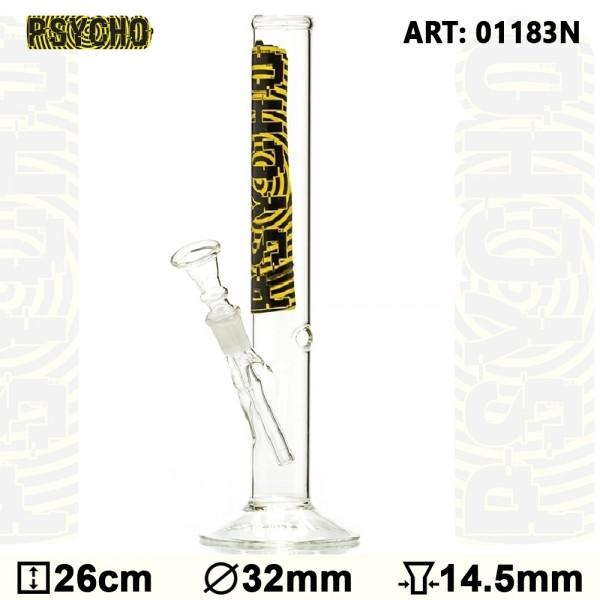 Psycho Glass Bong- H:26cm-Ø: 30mm- SG:14.5mm