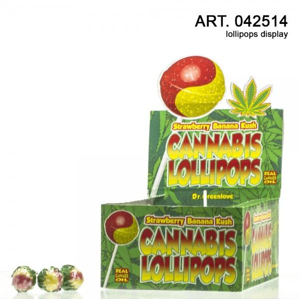Cannabis Lollipops Strawberry Banana Kush - 70pcs/box