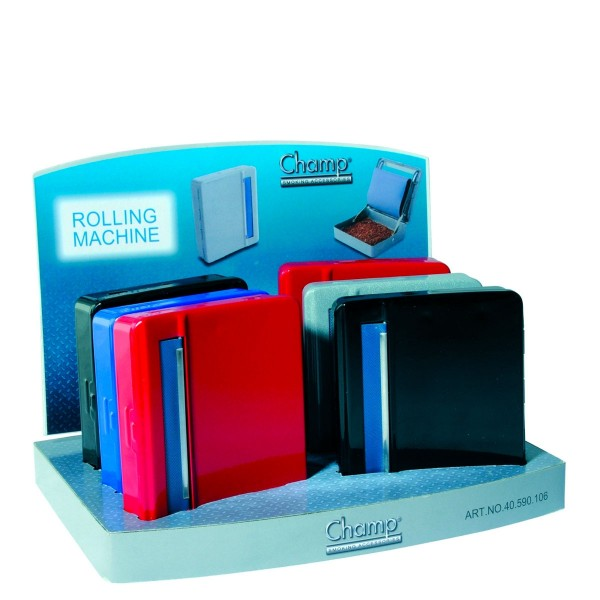Champ | Rolling Machine 70mm with different colors in a display of 8pcs