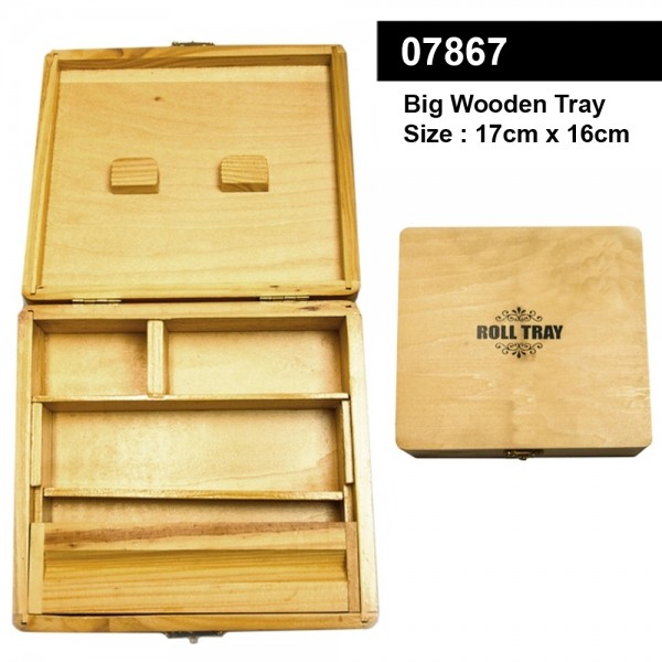 Big Wooden Roll Tray- 17cm x 16cm
