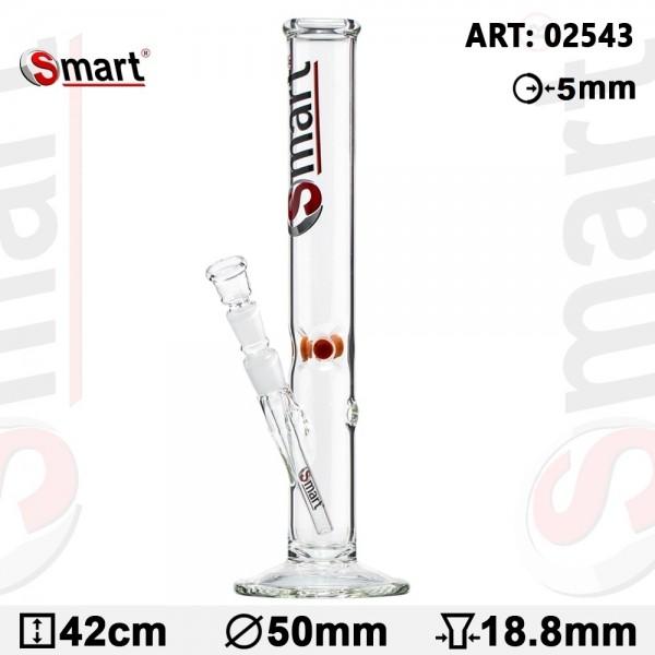Smart Glass Bong- Ø:50mm- WT:5mm (circa)- H:42cm - Socket 18.8mm
