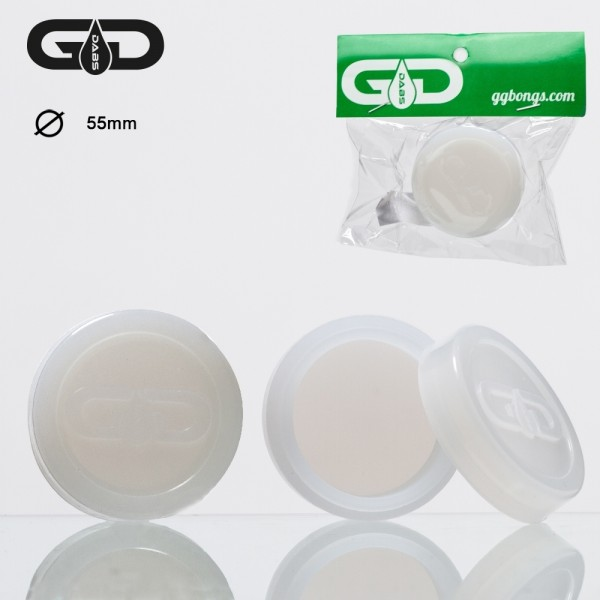 Grace Glass | Dabs Silicon Jar-White- Ø:55mm