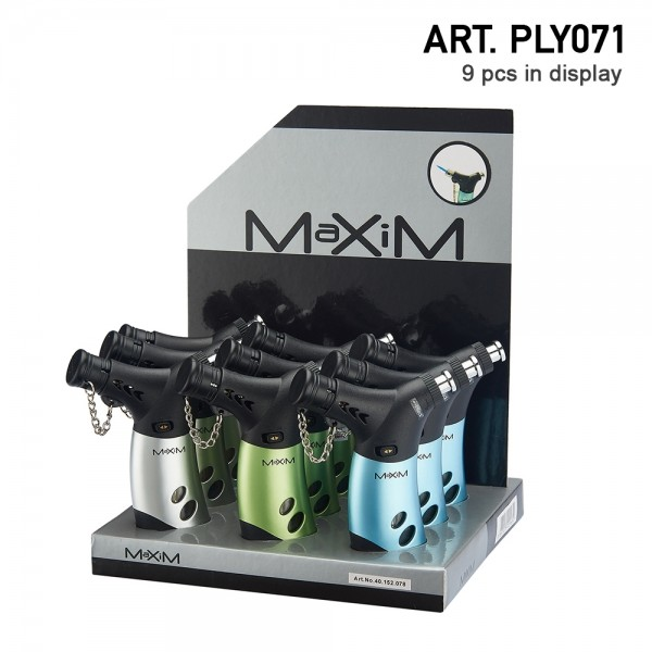 Maxim | Picasso Blueflame Torch with 3 different colors and 9 pcs in display