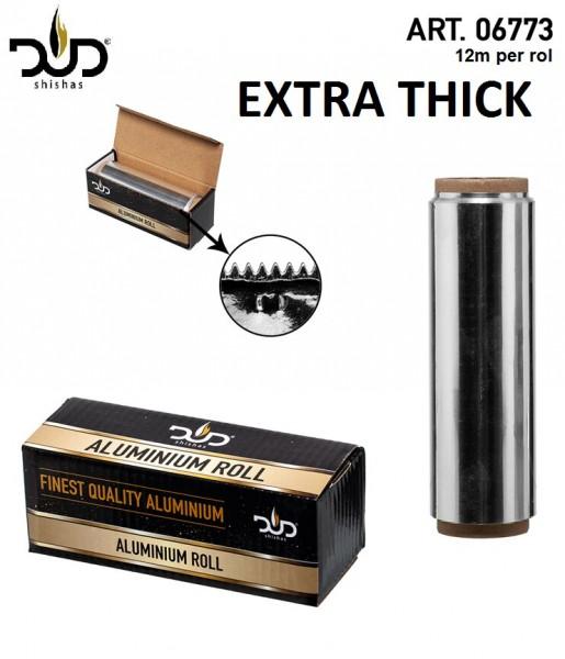 DUD Shisha | Aluminium roll for shisha- High Quality- 12 meter per roll - Extra thick 0.04 mm