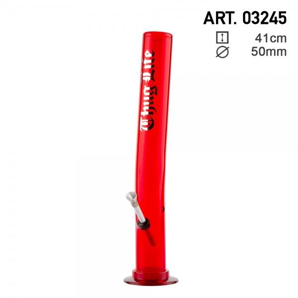 Thug Life | Acrylic Red Bong H:41cm - Ø:50mm