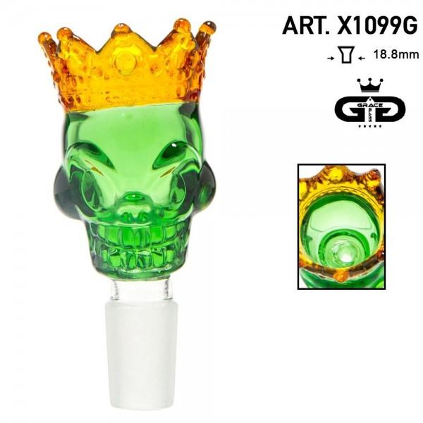 Grace Glass | Skull King Bowl-Green- SG:18.8mm