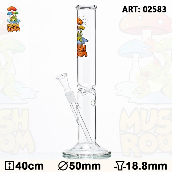 Mushroom With Frog Glass Bong - Ø:50mm - H:40cm - Socket:18.8 mm